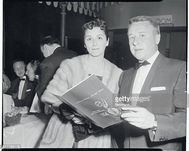 George Gobel and wife Alice at the television Academy Awards in Hollywood
