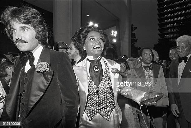 Hollywood, California: Singer-actress Diana Ross, nominee for an Oscar as Best Actress, arrives at the Music Center where the 45th annual Academy...
