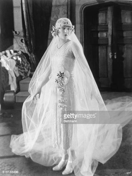 Vilma Banky beautiful Budapest discovery of Samuel Goldwyn's in the wedding gown she wears in one of the sequences of George Fitzmaurice's screen...