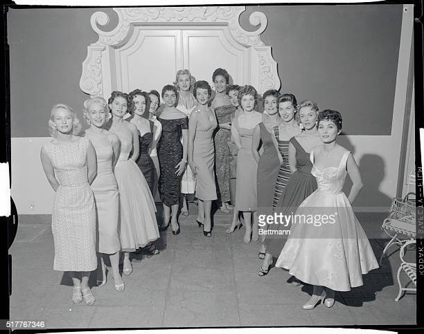 Wampas Baby Stars of 1956 Wampas Baby Stars of 1956 pose after their selection as winners of the annual contest in Hollywood From left Fay Spain...