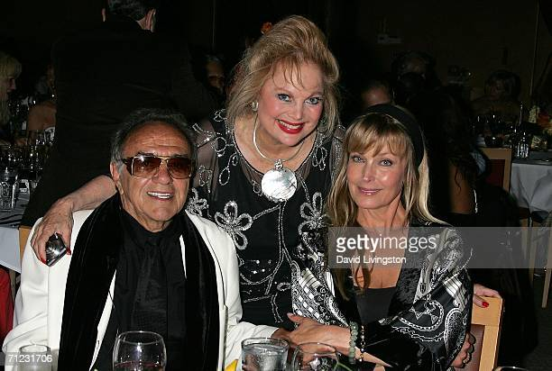 Hollywood car creator George Barris composer Carol Connors and actress Bo Derek attend the Friars of Beverly Hills celebrity fundraiser dinner gala...