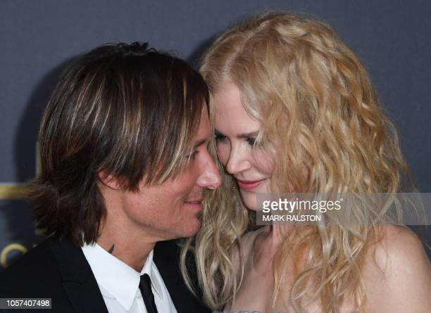 TOPSHOT Hollywood Career Achievment Award recipient actress Nicole Kidman and husband musician Keith Urban arrive for the 22nd Annual Hollywood Film...