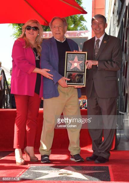 Hollywood Chamber of Commerce Chair of the Board Fariba Kalantari actor George Segal and Hollywood Chamber of Commerce President CEO Leron Gubler...