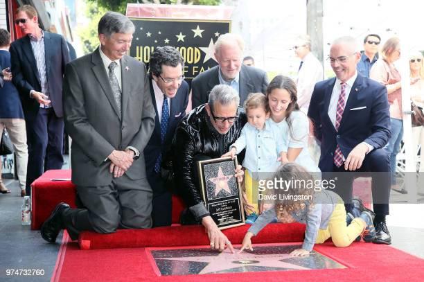 Hollywood Chamber of Commerce President/CEO Leron Gubler attorney Norman L Eisen actors Jeff Goldblum and Ed Begley Jr River Joe Goldblum Emilie...