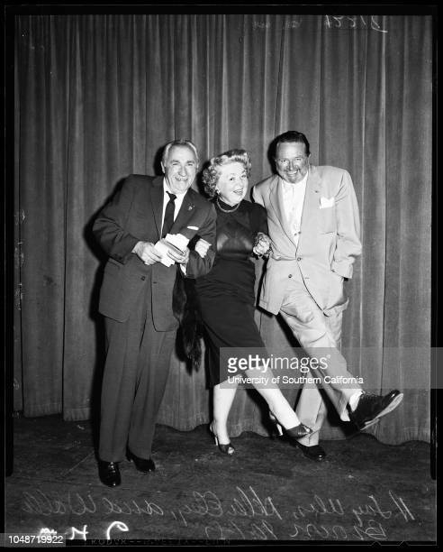 Hollywood comedy club 'Old Timers' 01 October 1957 Jack NorworthViola DanaEddie ParkesBuster WestLucille PageBuster West Jr Joe E BrownJohnnie...