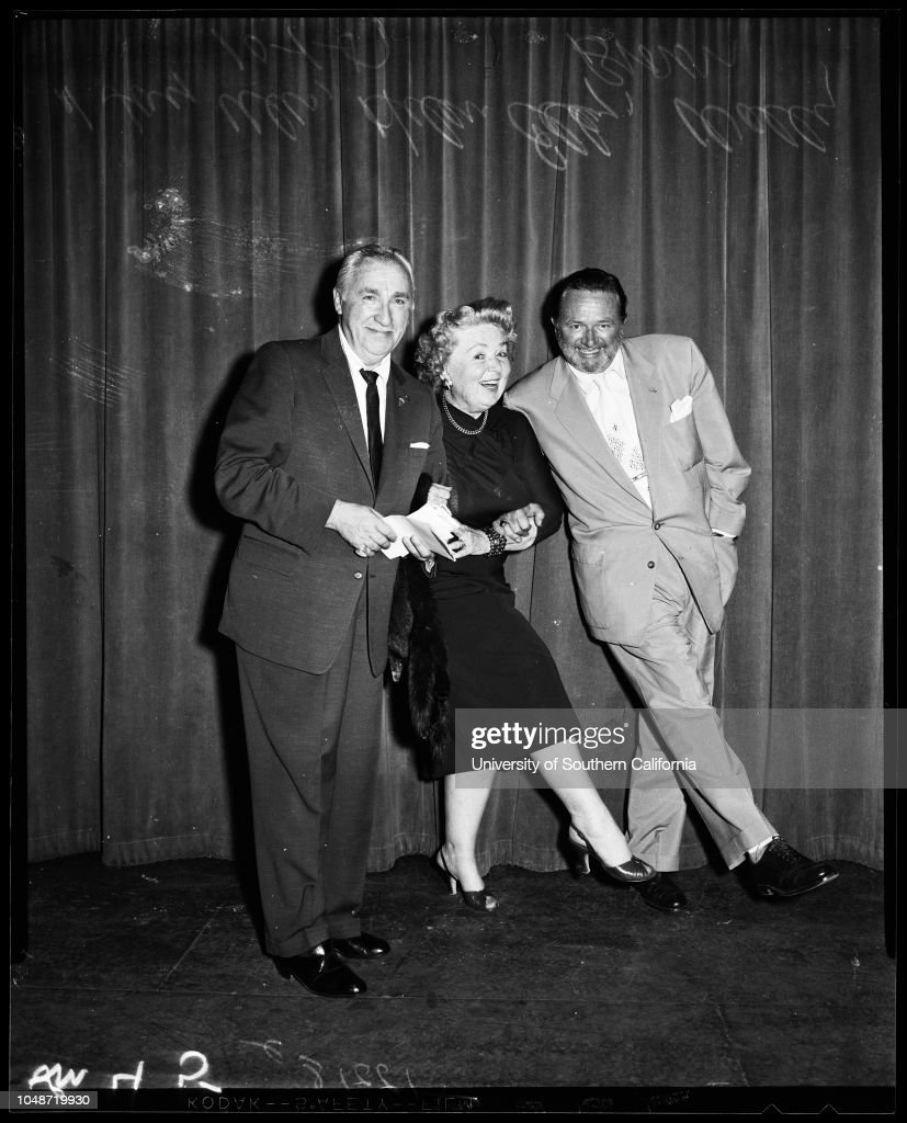"""Hollywood comedy club """"Old Timers"""", 1957 : News Photo"""