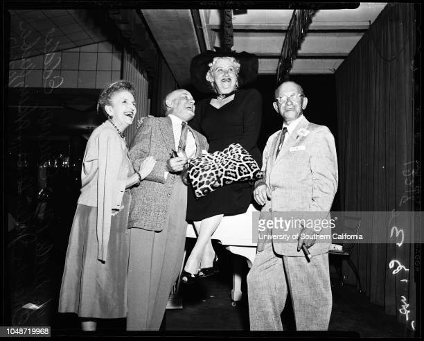 Hollywood comedy club 'Old Timers' 01 October 1957 Jack NorworthViola DanaEddie ParkesBuster WestLucille PageBuster West Jr Joe E BrownJohnnie...