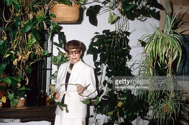 Hollywood costume designer Edith Head poses for a portrait at home on September 20 1979 in Los Angeles California