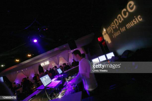 DJ Hollywood during MySpacecom and Nick Cannon Host Friday Night at PURE Nightclub in Las Vegas March 31 2007 at Pure Nightclub in Las Vegas Nevada...