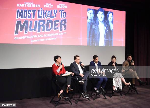 Hollywood Editor at Vulture Stacey Wilson Hunt director Dan Gregor writer Doug Mand actress Rachel Bloom and actor Adam Pally speak at Vulture and...
