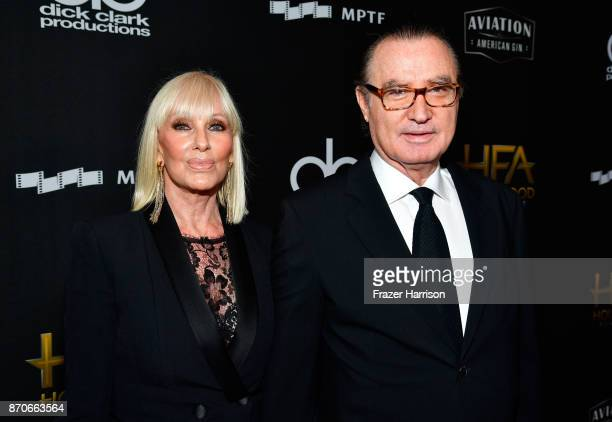 Hollywood Film Awards cofounders Janice Pennington and Carlos de Abreu attend the 21st Annual Hollywood Film Awards at The Beverly Hilton Hotel on...