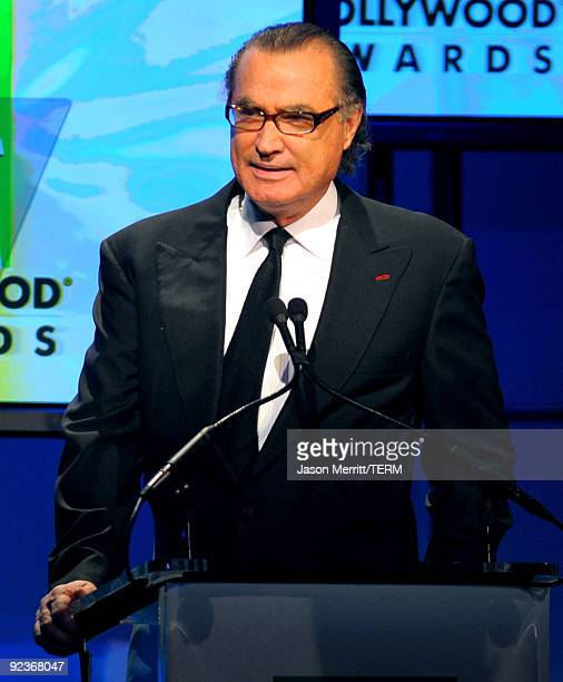 Hollywood Film Festival founder Carlos de Abreu speaks onstage during the 13th annual Hollywood Awards Gala Ceremony held at The Beverly Hilton Hotel...