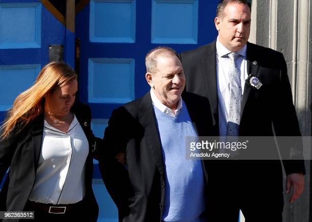 Hollywood film producer Harvey Weinstein who is accused of sexual misconduct is seen after he has been arrested at New York Police Department in New...