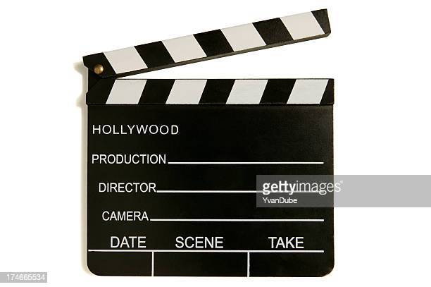 hollywood film slate(with clipping path)