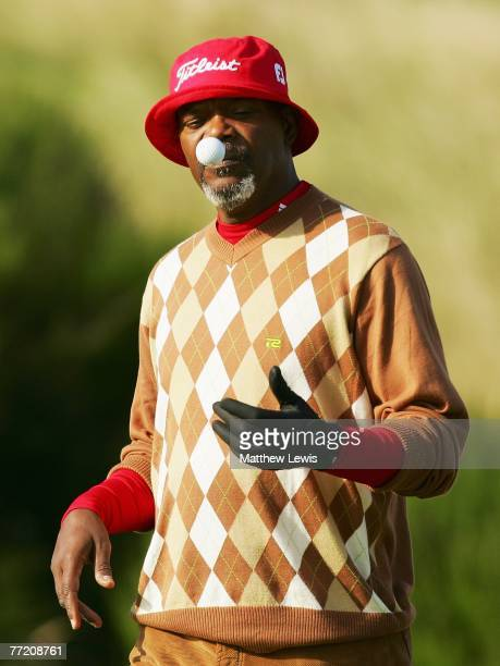 Hollywood film star Samuel L.Jackson during the third round of The Alfred Dunhill Links Championship at Kingsbarns Golf Links on October 6, 2007 in...