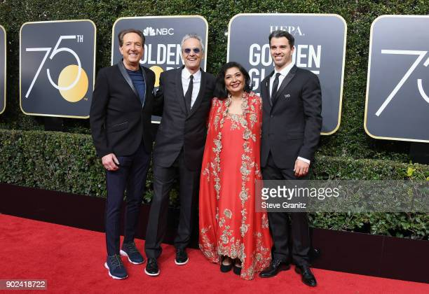 Hollywood Foreign Press Association president Meher Tatna and guests attend The 75th Annual Golden Globe Awards at The Beverly Hilton Hotel on...