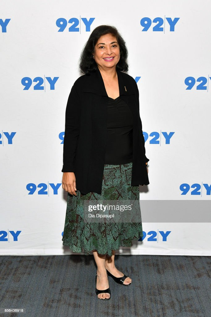 Hollywood Foreign Press Association president Meher Tatna attends Gal Gadot and Meher Tatna in Conversation with Carla Sosenko at 92nd Street Y on October 1, 2017 in New York City.