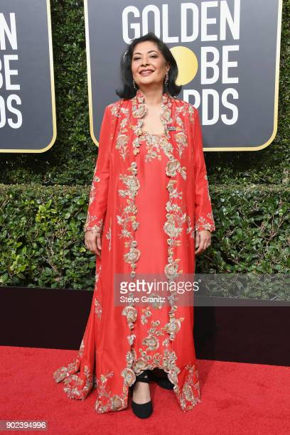 Hollywood Foreign Press Association President Meher Tatna attends The 75th Annual Golden Globe Awards at The Beverly Hilton Hotel on January 7 2018...