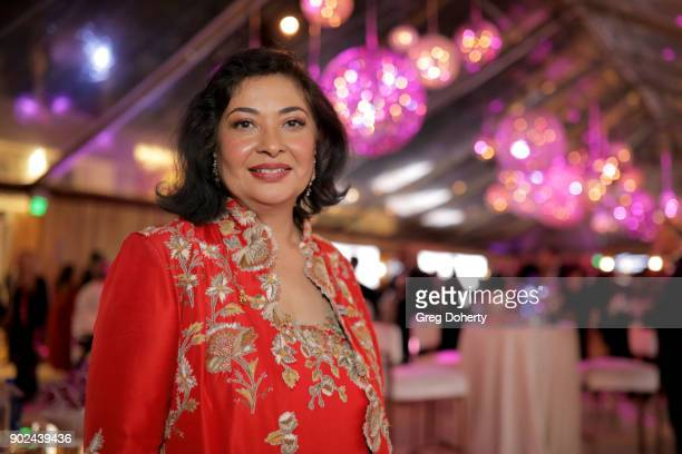 Hollywood Foreign Press Association president Meher Tatna attends the Official Viewing and After Party of The Golden Globe Awards bosted by The...