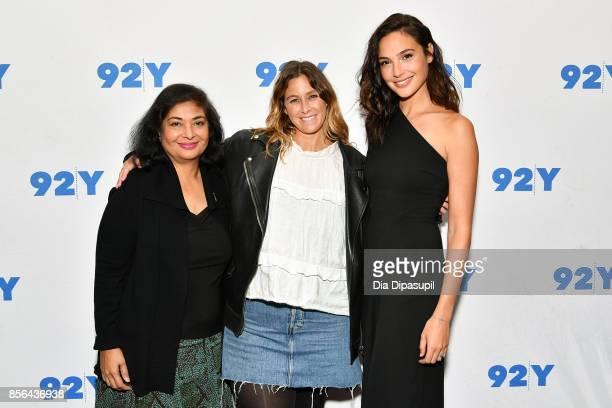 Hollywood Foreign Press Association president Meher Tatna Carla Sosenko and actress Gal Gadot attend Gal Gadot and Meher Tatna in Conversation with...