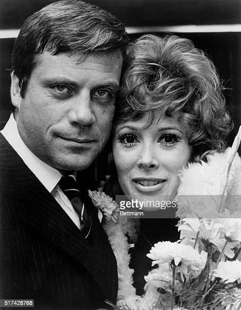 Hollywood glamour girl Jill St John smiles for camera together with her movie husband Oliver Reed Jill is playing the very thankless role of an...