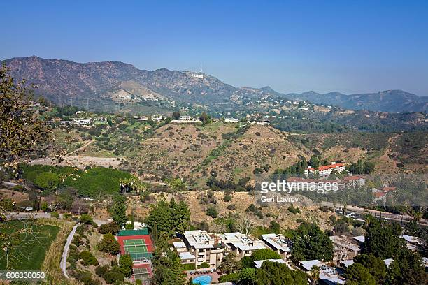 hollywood hills, california - hollywood hills stock pictures, royalty-free photos & images