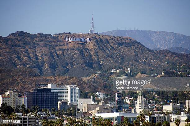 hollywood hills - hollywood sign stock pictures, royalty-free photos & images