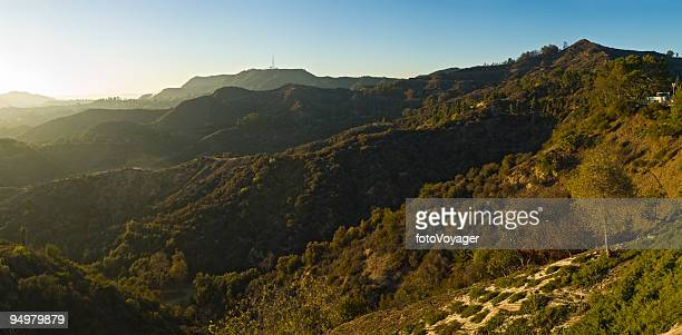 hollywood hills sunset - hollywood california stock pictures, royalty-free photos & images