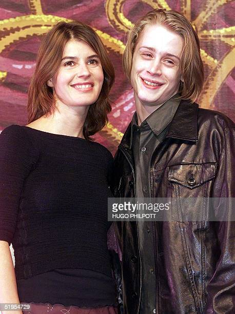 Hollywood Home Alone star Macaulay Culkin and acclaimed French actress Irene Jacob pose for the press in a photocall for their new play Madame...