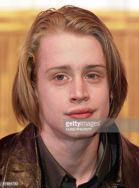 Hollywood Home Alone star Macaulay Culkin pose for the press in a photocall for their new play Madame Melville at the Vaudeville theatre in London's...