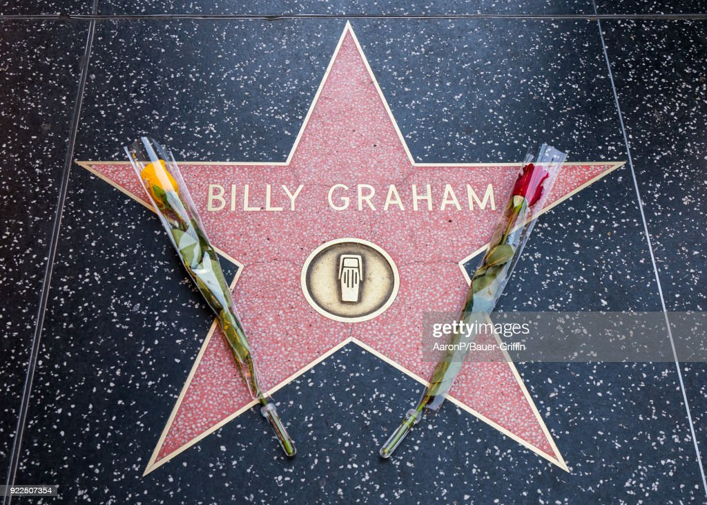 Hollywood honors Billy Graham on the Hollywood Walk of Fame after the announcement of his death on February 21, 2018 in Los Angeles, California.