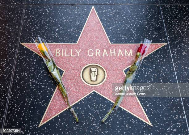 Hollywood honors Billy Graham on the Hollywood Walk of Fame after the announcement of his death on February 21 2018 in Los Angeles California