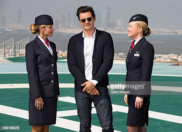 Hollywood hotshot Orlando Bloom surveys the sweeping Abu Dhabi cityscape from an innercity helipad during a visit to celebrate the launch of the new...