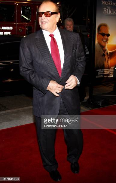 Hollywood Jack Nicholson attends the World Premiere of 'The Bucket List' held at the ArcLight Theater in Hollywood California United States