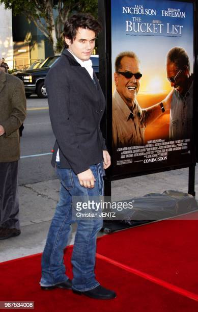 Hollywood John Mayer attends the World Premiere of 'The Bucket List' held at the ArcLight Theater in Hollywood California United States