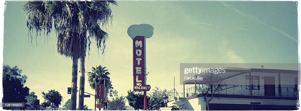 Hollywood Motel - Vintage Look Series : Stock Photo