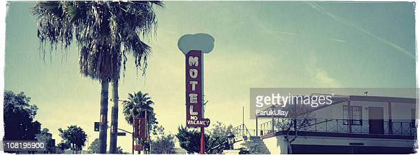 hollywood motel - vintage look series - hollywood california stock pictures, royalty-free photos & images