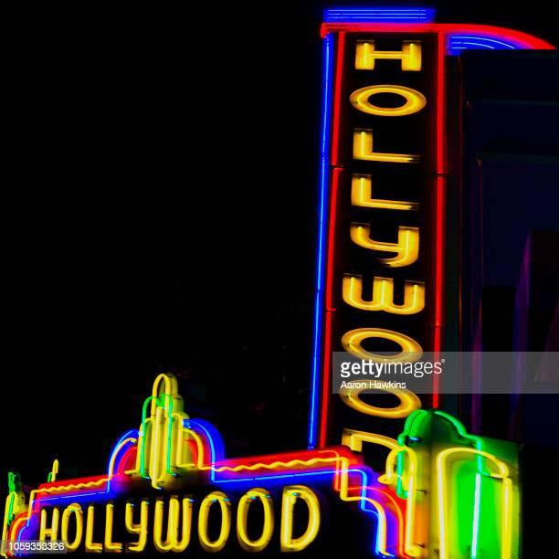 hollywood au néon - première de film photos et images de collection