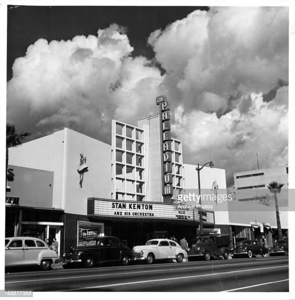 Hollywood Palladium on Sunset Blvd in Los Angeles, 1940s.