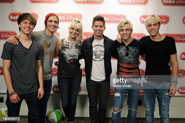 DISNEY Hollywood Records band R5 siblings Ross Lynch Riker Lynch Rydel Lynch Rocky Lynch and best friend Ratliff stopped by Radio Disney to Planet...