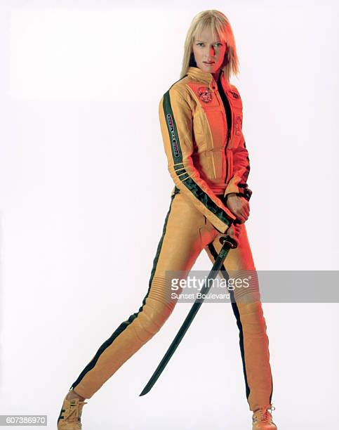 Hollywood screen goddess Uma Thurman stars in 'Kill Bill Volume 1' directed by Quentin Tarantino in 2003