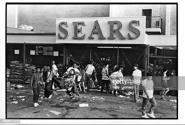 Hollywood Sears looters clothing electronics