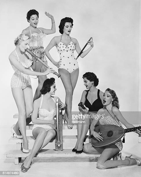 Sexy Sextet These six charmers have just won roles as Lana Turner's handmaidens in the new movie Diane set in the 16th century The girls are playing...
