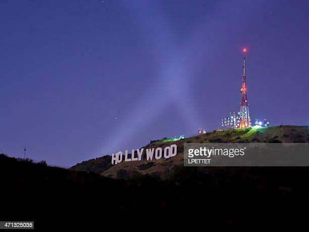 ハリウッドサインの夜景
