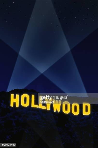 Hollywood Sign at Night