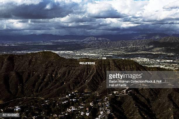 Hollywood Sign, California, United States, circa 1970s.