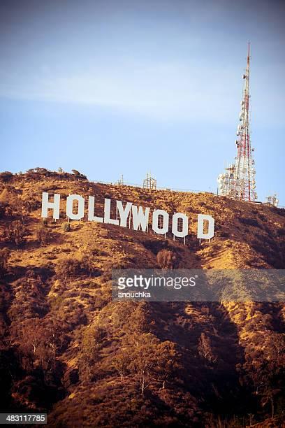hollywood sign, kalifornien, usa - hollywood california stock-fotos und bilder