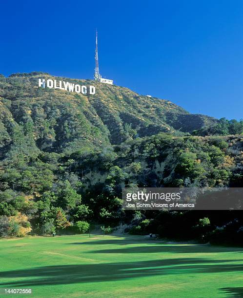 'Hollywood ' sign on the Hollywood Hills Los Angeles California