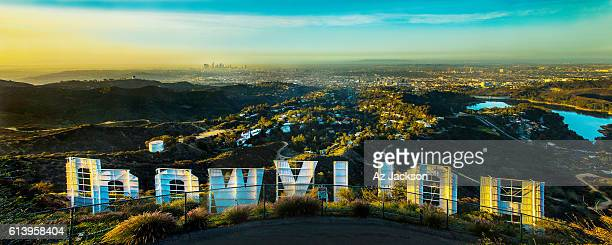 Hollywood Sign overlooking Los Angeles