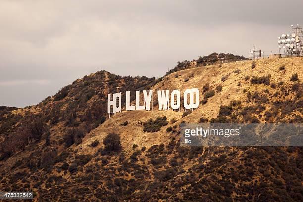 hollywood sign - hollywood california stock-fotos und bilder